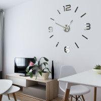 3D Nalepovacie hodiny DIY ADMIRABLE SWEEP z5400G Mirror, 80cm Diy Clock, Cladding, 3d, Mirror, Home Decor, Decoration Home, Room Decor, Mirrors, Home Interior Design
