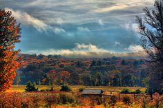morning mist on the Pocono mountains