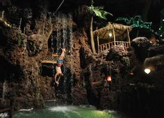 Cliff diver Jason is one of the divers that does a diving show every hour for diners at Casa Bonita in Denver. Casa Bonita has been a Denver attraction for 40 years. (The Gazette/Jerilee Bennett) Dinner Theatre, Denver Colorado, Places Ive Been, Disneyland, Crowd, Tower, Entertaining, Mexican Restaurants, Breakfast Tacos