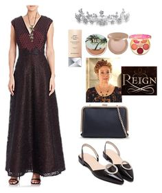 """""""Catherine de Medici [Reign]"""" by cheapchicceleb on Polyvore featuring Bling Jewelry, Kay Unger New York, WithChic, Givenchy, Urban Decay, tarte, TVStyle, outfit, Reign and TVFashion"""
