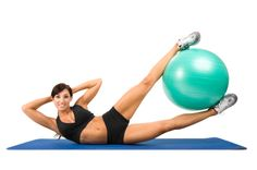 These oblique raises with a stability ball will BURN!
