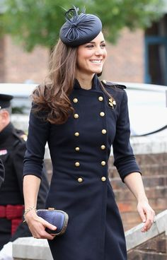 Catherine, Duchess of Cambridge, wore a military-inspired dress to a royal event. Photo By Chris Jackson