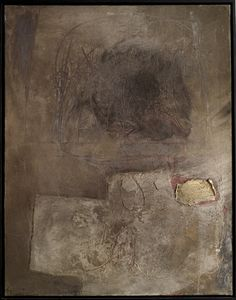Antoni Tapies - Figura paisaje en gris, oil and sand on canvas Abstract Landscape, Abstract Art, Modern Art, Contemporary Art, Art Brut, Inspiration Art, Art Moderne, Art Graphique, Art Design