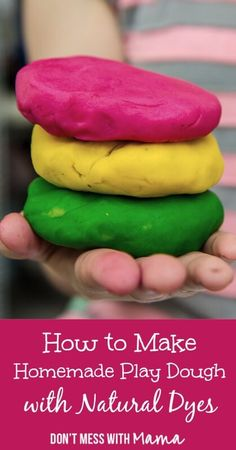 How to Make Homemade Play Dough with Natural Dyes & Essential Oils - forget the Play-Dough, make your own with ingredients you already have in your pantry - DontMesswithMama.com