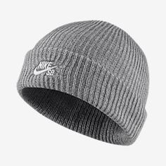 808354e924b Nike Sb Fisherman Knit Hat - One Size Dark Grey Heather White