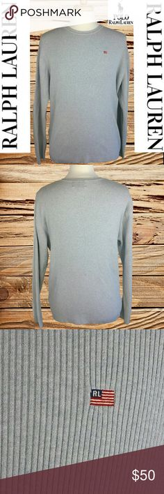 RALPH LAUREN - MEN'S GREY SWEATER RALPH LAUREN - EXCELLENT MEN'S GREY SWEATER  (EVERY ITEM IS DRY CLEANED!  EVERY ITEM IS WRAPPED!)   OFFERS ALWAYS WELCOME! :) Polo by Ralph Lauren Sweaters Crewneck