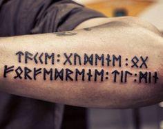Runic tattoo