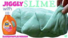 DIY JIGGLY SLIME WITH TIDE!!! 3 INGREDIENTS!  SO EASY ONLY TAKES 2 MINUT...