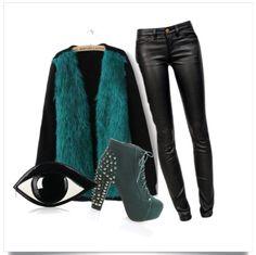Green Studded Eye Eyes, Green, Polyvore, Image, Fashion, Moda, Fashion Styles, Fasion