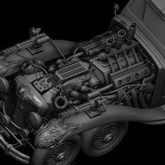 The Art of Karathomas Steampunk car
