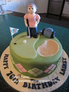 Golf cake  Cake by Jakescakes