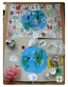 20 Recycling Activities And Games For Kids - Great for Earth Day Earth Craft, Earth Day Crafts, Kids Crafts, Preschool Activities, Earth Day Projects, School Projects, Recycling Games, Recycling Activities For Kids, Earth Day Activities