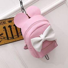 High Quality New Summer Cartoon Mouse Cute Mini Shoulder Women Messenger  Bags Leather Handbags Women Bolsas dd3bd057f9fe9