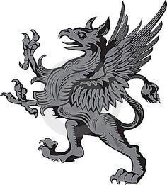 вектор иллюстрация грифон геральдический символ