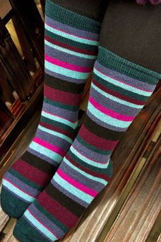 Socks » Michael Multi Stripe Midcalf