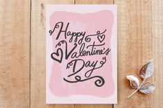 Handwritten Valentine's Day Card on Minted.