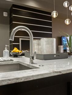 - HGTV Urban Oasis 2013: Kitchen Pictures  on HGTV This faucet!