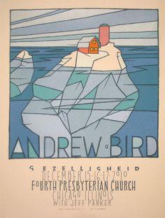 Andrew Bird 2010 Chicago concert poster by Jay Ryan - Jay Ryan - Gallery