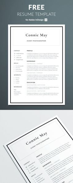 Teacher Resume Template for Word  Pages; Elementary Teacher CV