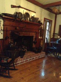 Log Cabin Fireplace Mantle Decor