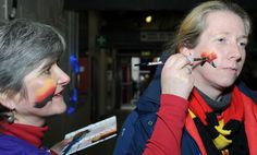 Blue Orange Images facepainting Watford at Watford FC for Peace Hospice Care.  #watford #facepainting #PeaceHospiceCre