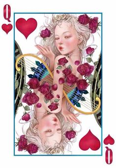 queen of hearts card Hearts Playing Cards, Playing Cards Art, Joker, Queen Of Hearts Card, Fighting Irish, Tic Tac Toe, Heart Cards, Deck Of Cards, Fantasy Art