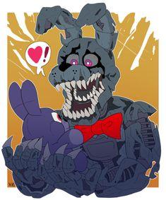 "snazzamazing: ""happy anniversary FNaF let this nightmare bunbun enjoy his plushie Fnaf 4, Anime Fnaf, Markiplier Fnaf, Steven Universe, Freddy S, Five Nights At Freddy's, Disney Pixar, Ghibli, Fnaf Wallpapers"