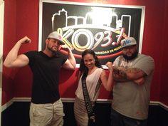 At The KQ 93.7 FM studio!!