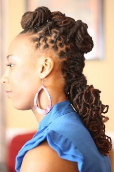 loc hairstyles | Unique Loc Style! | Black Women Natural Hairstyles