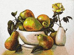 Pears photo stitch free embroidery design - Photo stitch embroidery designs - Machine embroidery community