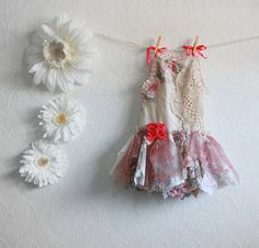Girl's Shabby Chic Fairy Dress Toddler Clothing by MyFairMaiden, $68.00