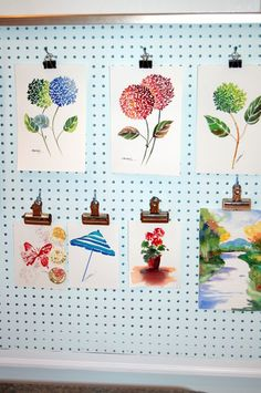 Home Office Photos Pegboard Wall Design, Pictures, Remodel, Decor and Ideas