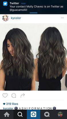 ash & charcoal tones on dark hair!