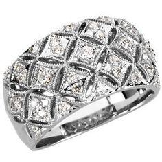 14kt White 1/2 CTW Diamond Ring