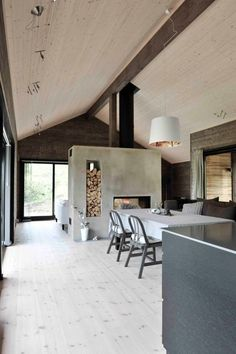 Interior Architecture, Interior And Exterior, Room Interior, Estilo Interior, Double Sided Fireplace, Home Fashion, Future House, Interior Inspiration, House Plans