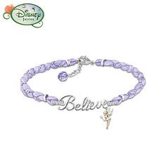 Tinker Bell Believe Crystal Bracelet from Bradford Exchange