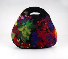 Gefilzte Tasche Fiber Art Handtasche Living Bag Tasche von filcant