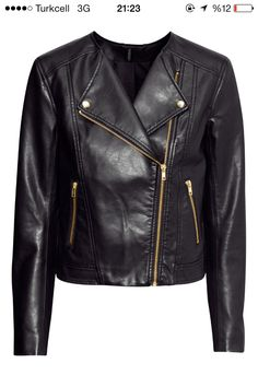Hm leather coat
