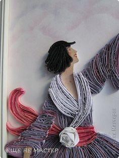 Картина панно рисунок Бумагопластика Квиллинг Картина  Здравствуй  утро   Бумага Бумажные полосы фото 2