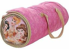 """Disney Princess 2-in-1 Slumber Pal by Disney. $26.95. Machine wash cold - Tumble dry low. Opens up to full size: 54"""" x 24"""". Rolls up for easy storage. Convenient handle for easy carrying. Great for sleepovers, parties, road trips & watching television, Disney Princess 2-in-1 Slumber Pal includes mat with attached blanket, and a pillow. Rolls up and secures with Velcro for easy storage!. Save 40%!"""