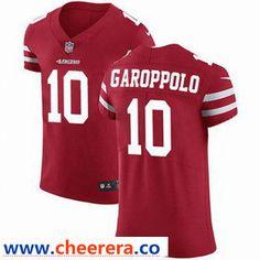 2584e330ec0 Nike Men s San Francisco 49ers  10 Jimmy Garoppolo Red Team Color Men s  Stitched NFL Vapor Untouchable Elite Jersey