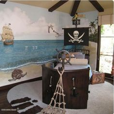 Enhance Kids Bedroom Decorating With Pirates Ship Theme Best Bedroom