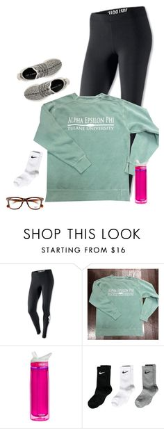 """""""last day before break! read d!"""" by kadynpleasants ❤ liked on Polyvore featuring NIKE, CamelBak, Ray-Ban and adidas"""