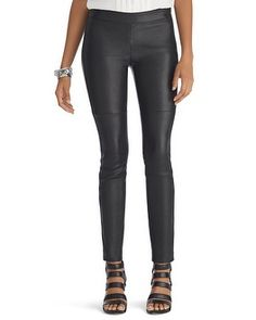 Are lambs endangered? Need but so expensive! White House | Black Market Skinny Full Leather Pant #whbm
