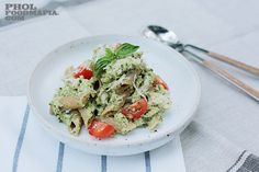 Chicken Avocado Cashew Pesto with Whole Wheat Penne