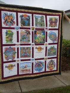A Hardrock Teeshirt Quilt That I made For A Friend