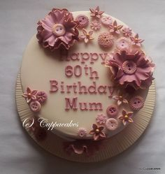 Pink Vintage Birthday Cake — Birthday Cakes