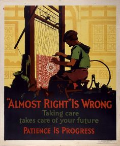 """""""Almost Right"""" is Wrong / Poster / 1929 / Frank Beatty, designer / Wolfsonian FIU"""