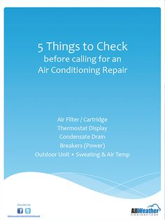 5 DIY things to check before calling a HVAC expert for repair.