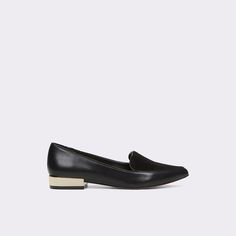 Abbatha A work to weekend pointy toe, slip-on loafer features a gilded heel and two-tone finish for a modern essential that's as dressy as it is casual.
